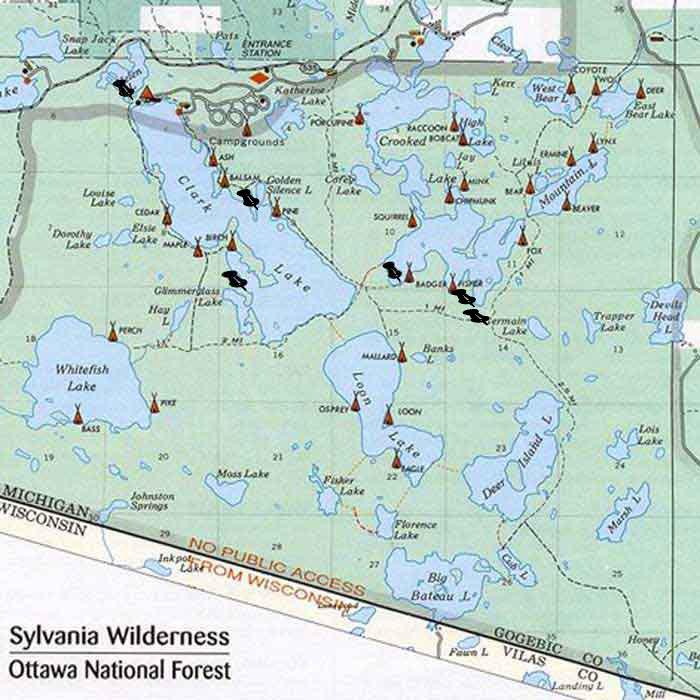 Sylvania Wilderness Map Friends of Sylvania Wilderness